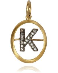 Annoushka - Yellow Gold And Diamond Initial K Pendant - Lyst