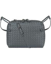 Bottega Veneta - Intrecciato Double Zip Messenger Bag - Lyst