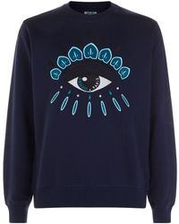 KENZO - Eye Logo Sweatshirt, Regular Fit Ink Blue Sweat - Lyst