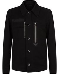Tom Ford - Cotton Collared Jacket - Lyst