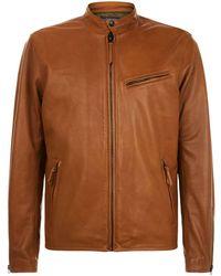 Ralph Lauren | Leather Caf Racer Jacket | Lyst