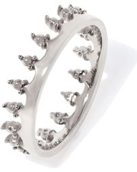 Annoushka - White Gold Crown Ring - Lyst