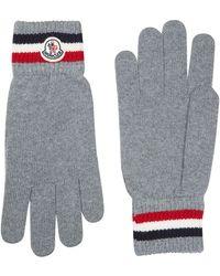 Moncler - Tricolour Stripe Gloves - Lyst