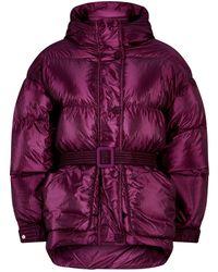 Ienki Ienki - Michlin Metallic Belted Puffer Jacket - Lyst