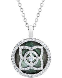 De Beers - White Gold And Mother Of Pearl Enchanted Lotus Pendant - Lyst