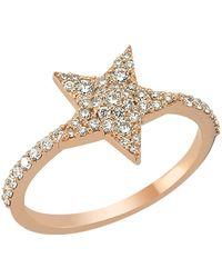 Bee Goddess   Sirius Star Light Diamond Ring, White, One Size   Lyst