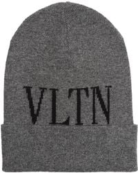 70be587fb1e Lyst - Valentino Vltn Wool Baseball Hat in Black for Men