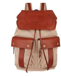 Brunello Cucinelli - Leather Trim Backpack - Lyst