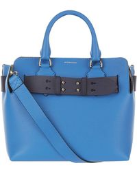 6aa27bffabdd Lyst - Burberry Medium Leather Belt Bag in Blue