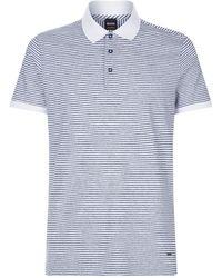 BOSS Orange - Striped Polo Shirt - Lyst