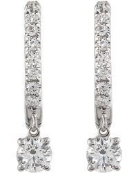 Anita Ko - Huggie Diamond Drop Earring - Lyst