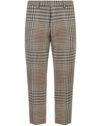 AMI - Crop Check Trousers - Lyst