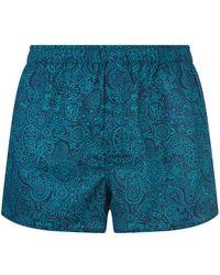 Derek Rose | Indian Pattern Boxer Shorts, Green, M | Lyst