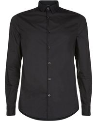 Armani Jeans - Cotton Collar Shirt - Lyst