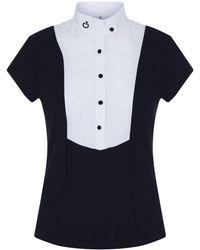 Cavalleria Toscana - Pleated Bib Short Sleeve Shirt - Lyst