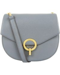 Sandro - Leather Cross Body Saddle Bag - Lyst