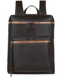 Burberry - Leather Zip Top Rucksack - Lyst