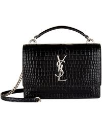 03c7d10a32 Lyst - Saint Laurent Small Kate Monogram Shoulder Bag in Black