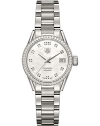 Tag Heuer - Carrera Mother-of-pearl Automatic 28mm Watch - Lyst