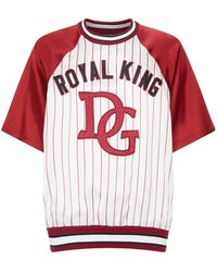 Dolce & Gabbana - Stripe Royal King T-shirt - Lyst