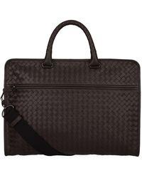 Bottega Veneta - Intrecciato Leather Portfolio - Lyst