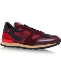 Valentino - Leather Camo Trainers - Lyst