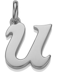 Monica Vinader - Sterling Silver Lower Case U Pendant - Lyst