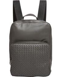 Bottega Veneta - Leather Intrecciato Backpack - Lyst