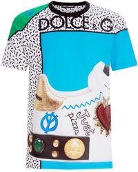Dolce & Gabbana - Graphic Sneaker T-shirt - Lyst