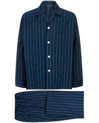 Harrods - Colourblock Flannel Pajama Set - Lyst
