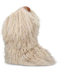 Saint Laurent - Fur Calf Boots 40 - Lyst