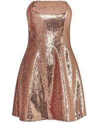 La Mania - Kayla Strapless Sequin Mini Dress - Lyst