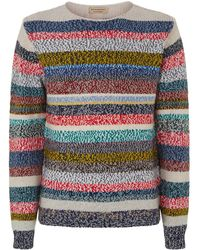 Burberry - Striped Knit Sweater - Lyst