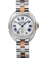Cartier - Stainless Steel Cl De Watch 31mm - Lyst