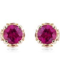 Theo Fennell - Ruby Chinese Blossom Bud Earrings - Lyst