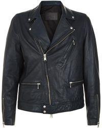 AllSaints - Carver Leather Biker Jacket - Lyst