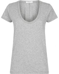 Rag & Bone - Scoop Neck T-shirt - Lyst