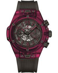Hublot - Big Bang Unico Chronograph Red Automatic Watch 45mm - Lyst