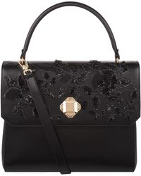 Elie Saab - Embellished Top Handle Bag, Black - Lyst