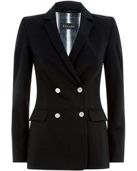 ESCADA - Double Breasted Blazer - Lyst