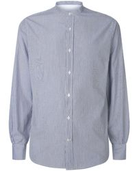 Officine Generale - Pinstriped Cotton Shirt - Lyst