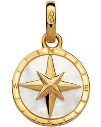 Links of London - Gold & Mother Of Pearl Compass Charm - Lyst