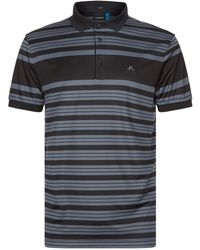 J.Lindeberg - Striped Polo Shirt - Lyst