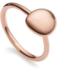 Monica Vinader - Nura Small Pebble Stud Ring - Lyst