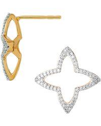 Links of London - Yellow Gold And Diamond Splendour Open Stud Earrings - Lyst