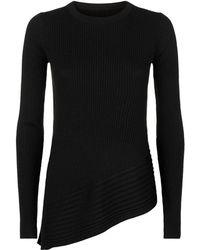 AllSaints - Keld Ribbed Merino Sweater - Lyst
