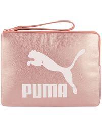 PUMA - Prime Metallic Pouch - Lyst