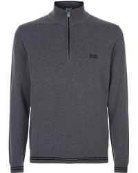 BOSS Green - Logo Embroidered Sweatshirt - Lyst