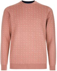 Ted Baker - Crazy Geometric Pattern Jumper - Lyst