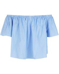 Stella McCartney - Stripe Frill Sleeve Top - Lyst